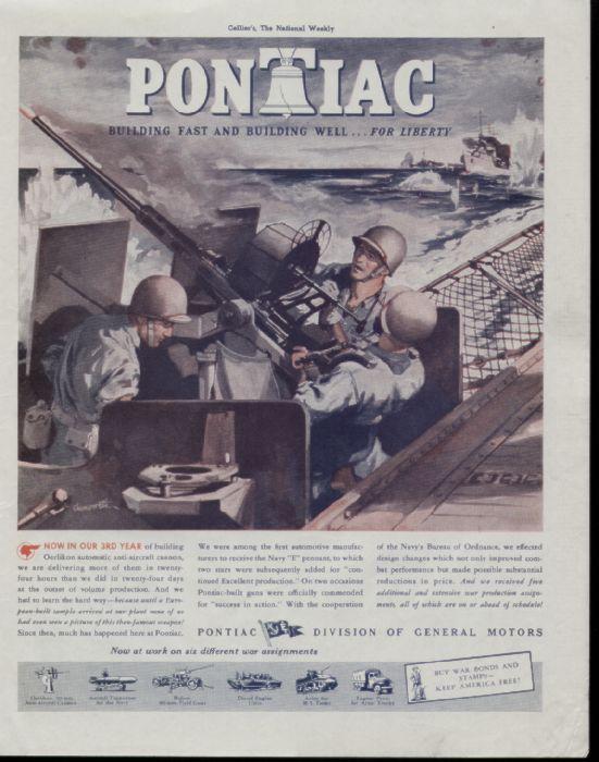 1943 pontiac magazine ad