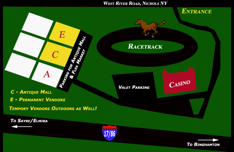 map of tioga downs